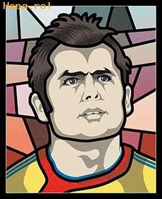 Caricaturi fotbalisti Euro 2008 - Nicolae Dică - Euro 2008